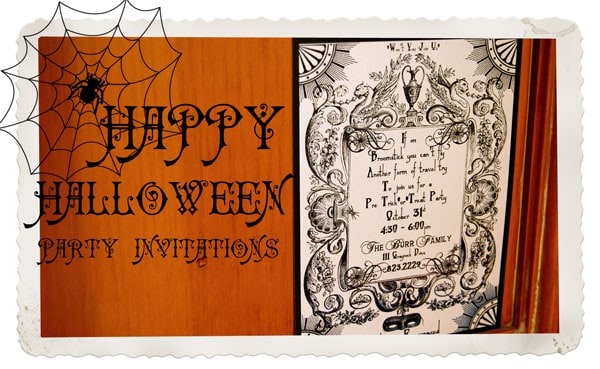 Vintage Halloween Invitation for etsy!