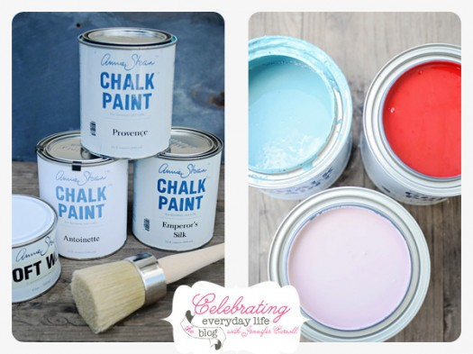 Annie Sloan Chalk Paint, Provence, Emperor's Silk, Antoinette, Clear Wax