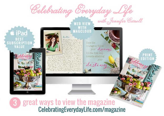 Celebrating Everyday Life magazine 3 ways to read
