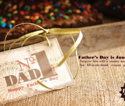 {free printable} Father's Day fill-in-the-blank coupons
