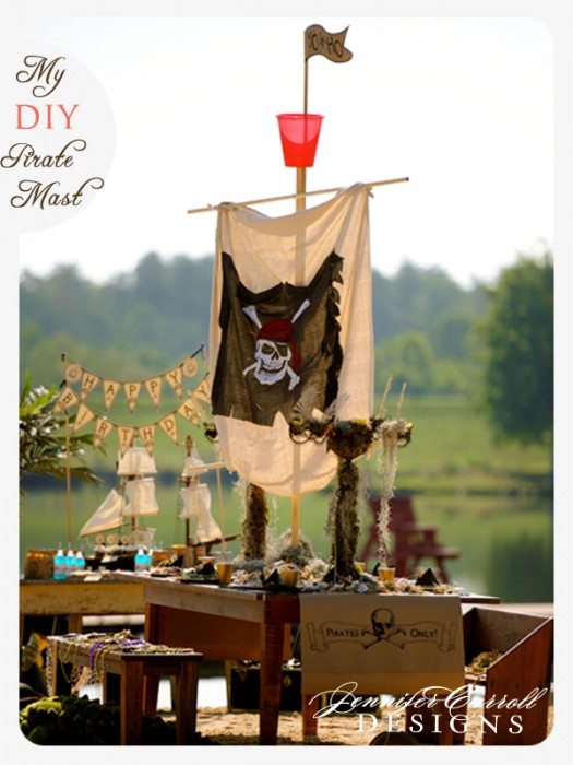 Pirate Ship Table Decoration