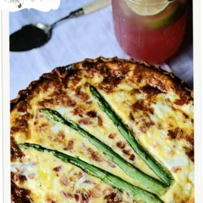 {let's make a} Ham, Vegetable & 3 Cheese Quiche