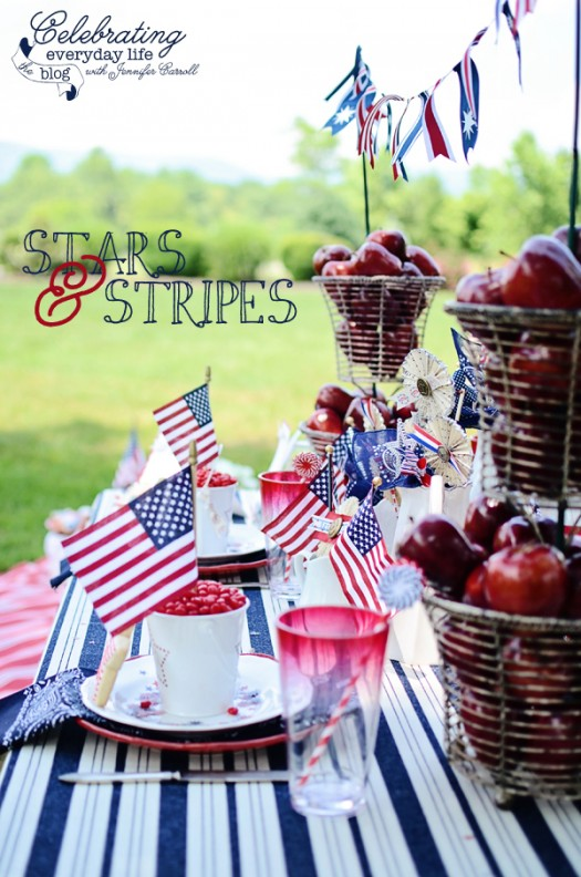 Stars & Stripes 4th of July Picnic, BBQ Celebration and Party Ideas