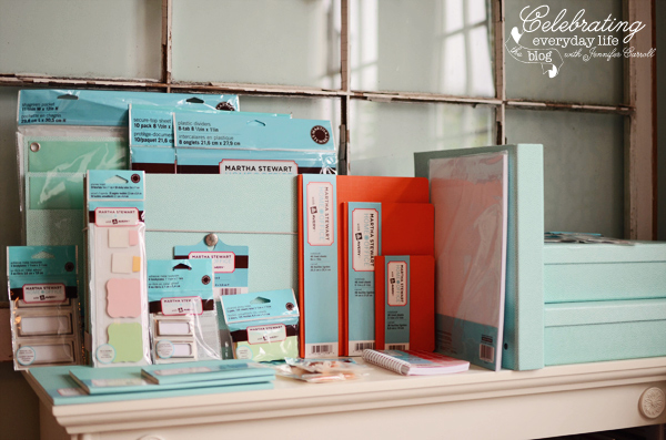getting organized} martha stewart's new home office products + a
