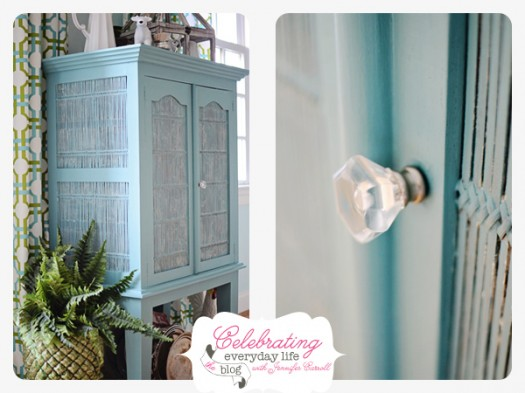 Annie Sloan Chalk Paint in Provence Blue, Crystal Acrylic Knob