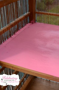 custom Annie Sloan Chalk Paint mix of Emperor's Silk and Antoinette