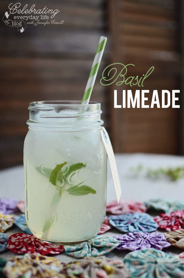 {Summer Sips} Basil Limeade Recipe