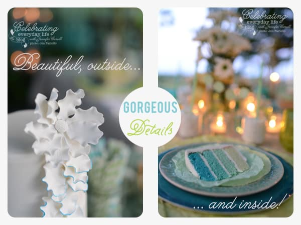Dessert Under the Stars Party, Ideas for Outdoor Entertaining, Ombre Cake, Maliha Creations