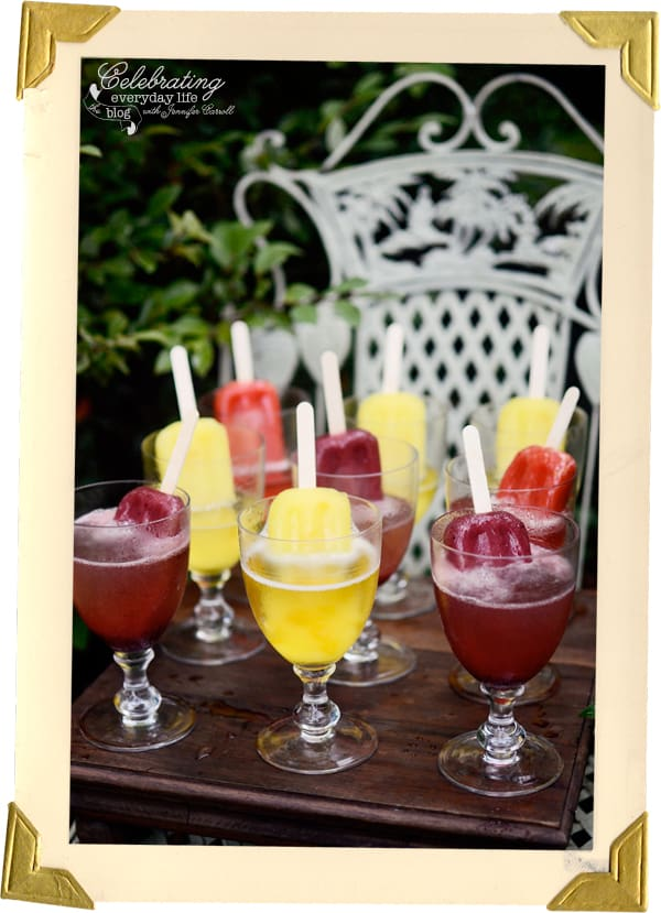 Champagne Popsicle Cocktail