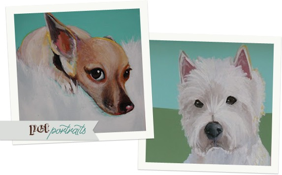 Custom pet portraits by Lesli Devito