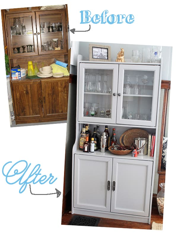 Decor Adventures blog cabinet turned bar makeover