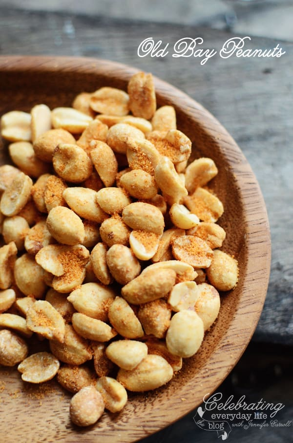 Honey Roasted Peanuts with Old Bay Seasoning
