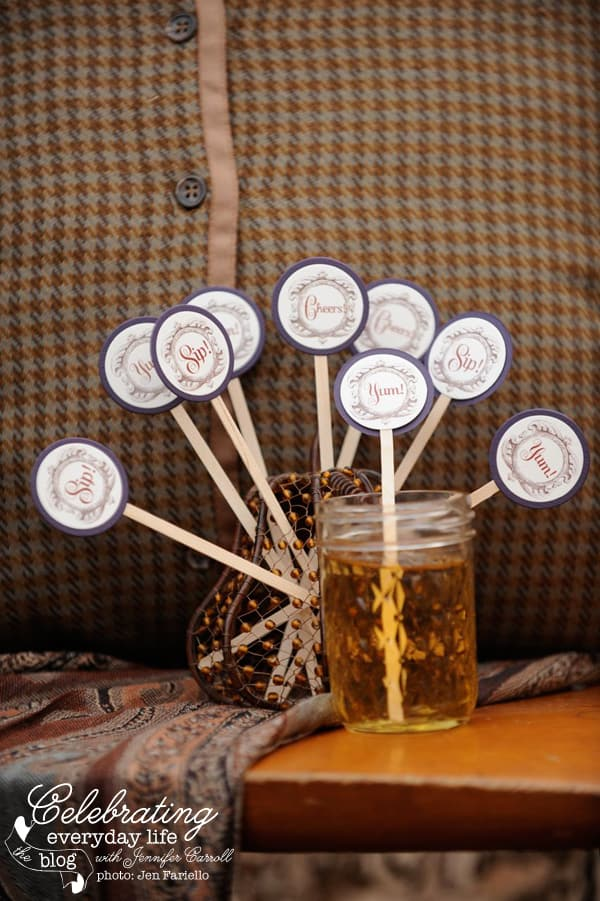 Fall Drink Stirrers, Autumn Drink Stirrers, Thanksgiving Drink Stirrers