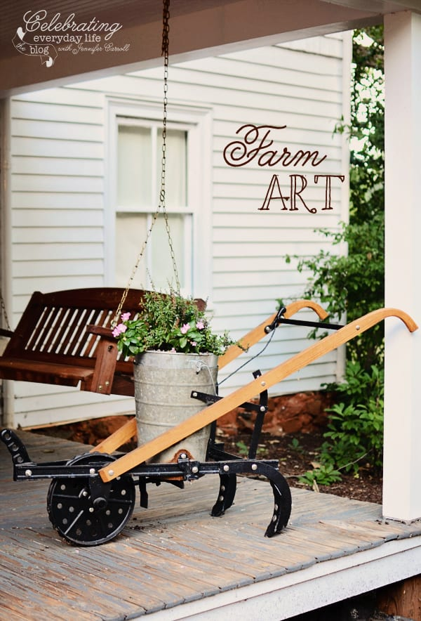 Garden Tool planter, Farm Art
