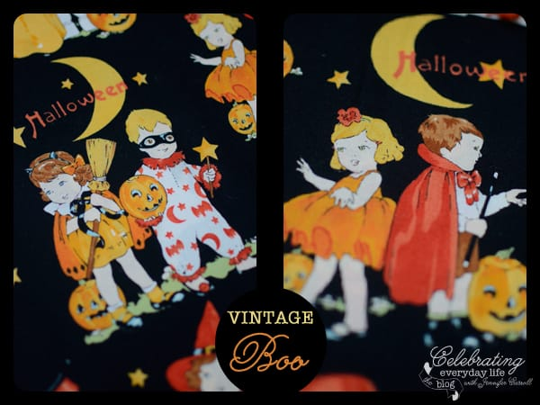 Trick or Treat Vintage Inspired Halloween Fabric {What to do?}