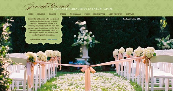 Jennifer Carroll Events wedding planning and design