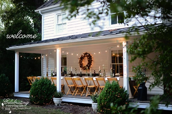 Country House Front Porch, Covered Porch, Dinner on the Porch, Front Porch Party