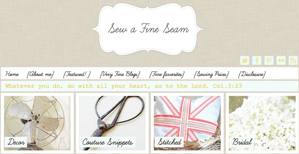 {Blogs I Love} Sew A Fine Seam