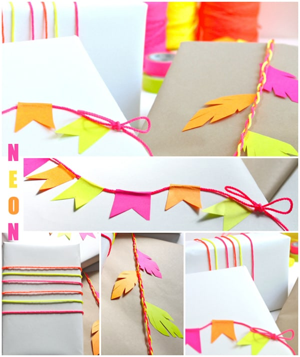 neon post-it note crafts