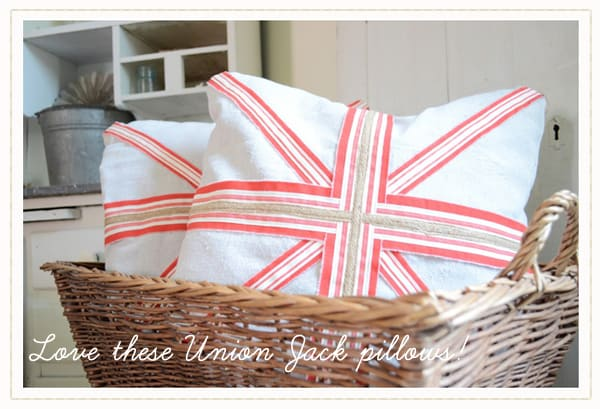 handmade Union Jack pillow, ribbon Union Jack detail, sew a fine seam blog