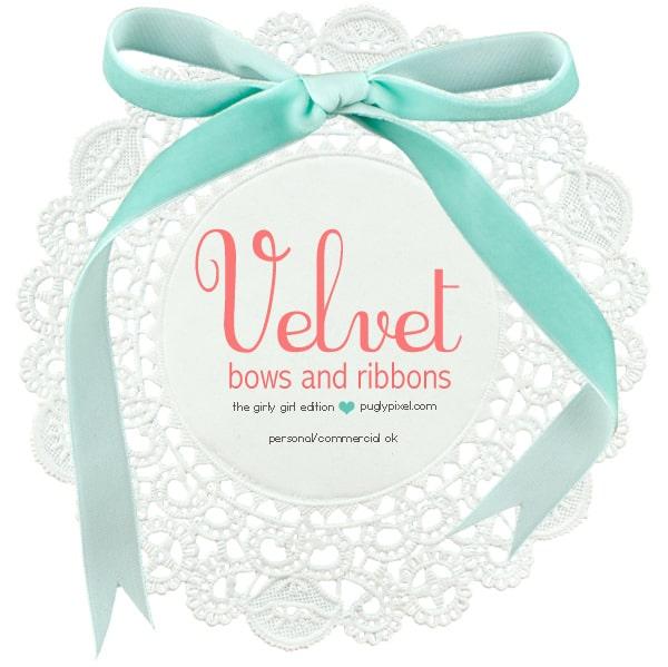 pugly pixel velvet bows