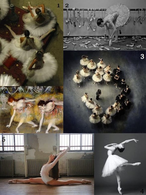 ballerina collage