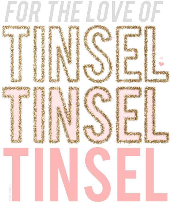 pugly pixel tinsel tutorial