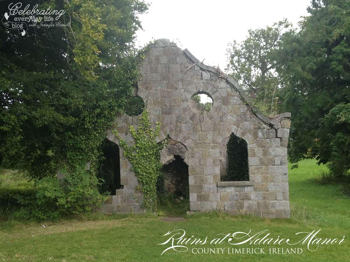 Ruins at Adare Manor