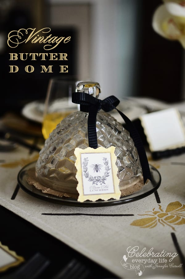 Glass beehive Butter Dome