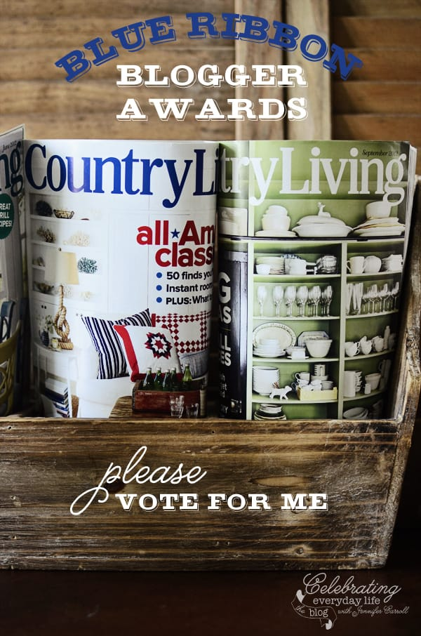 Country Living magazine Blue Ribbon Blogger Awards
