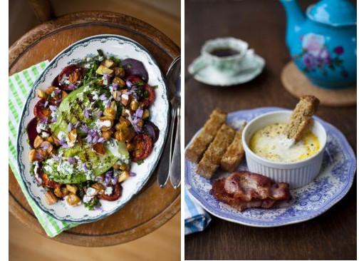 Donal Skehan Recipes, Griddled Lettuce & Ouefs Cocotte
