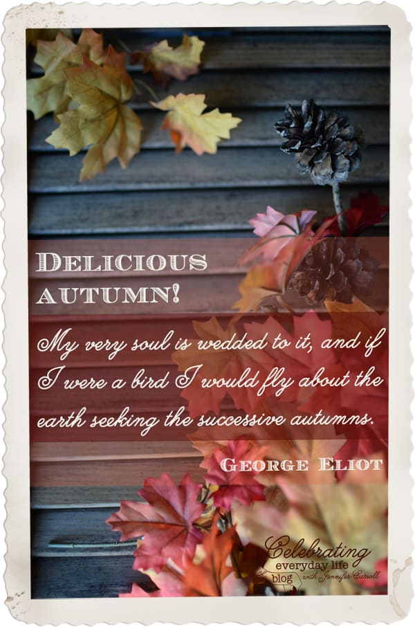 Delicious Autumn quote by George Eliot