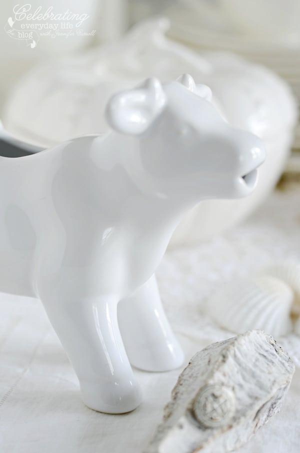 White Milk Cow Creamer