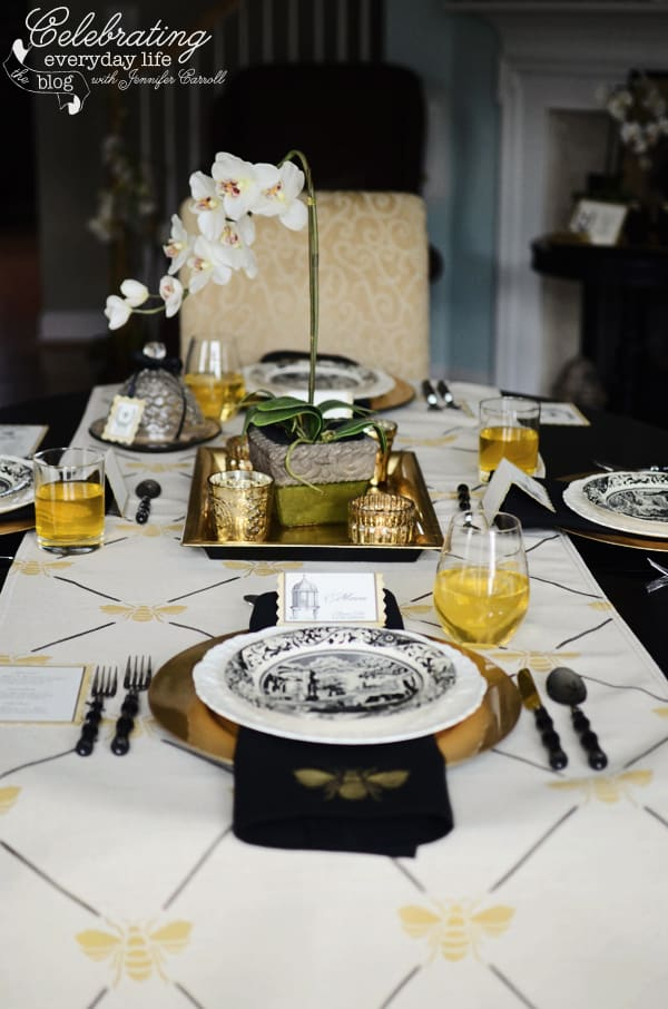 French Bee Trellis table setting