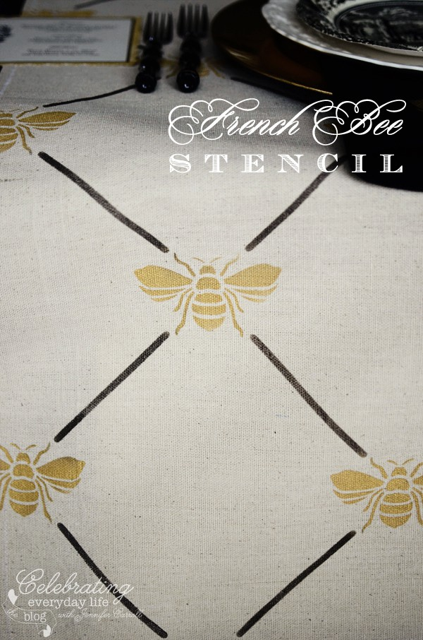 French Bee Trellis Stencil from Royal Designs Studio