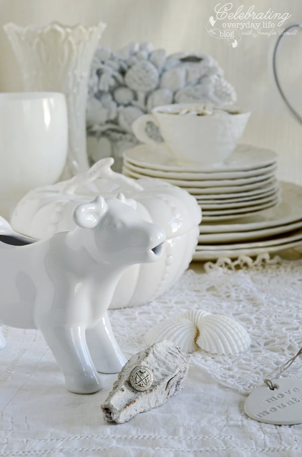 Inspired by White Decor cow creamer