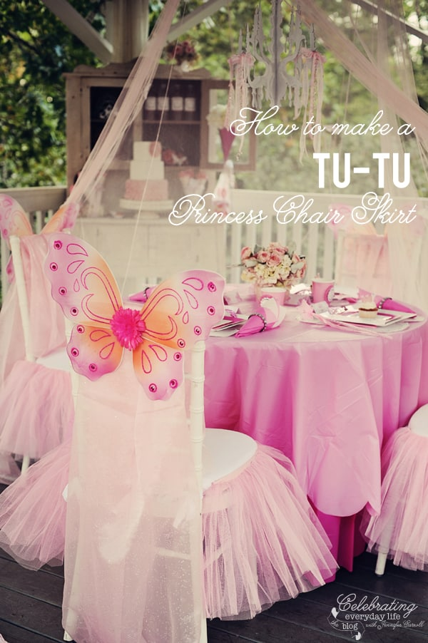 How to Make a Fairy Princess Tu-tu chair skirt