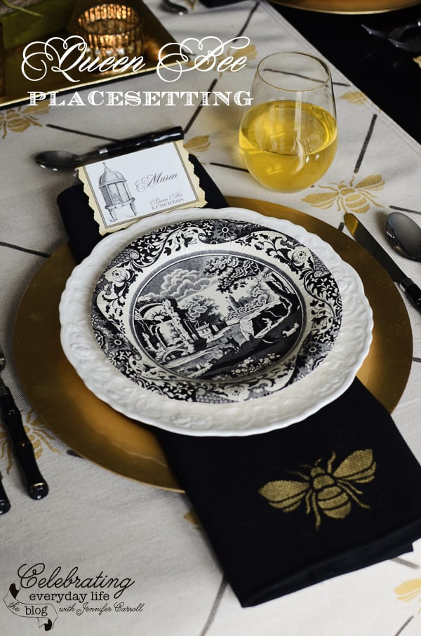 Queen Bee Luncheon placesetting