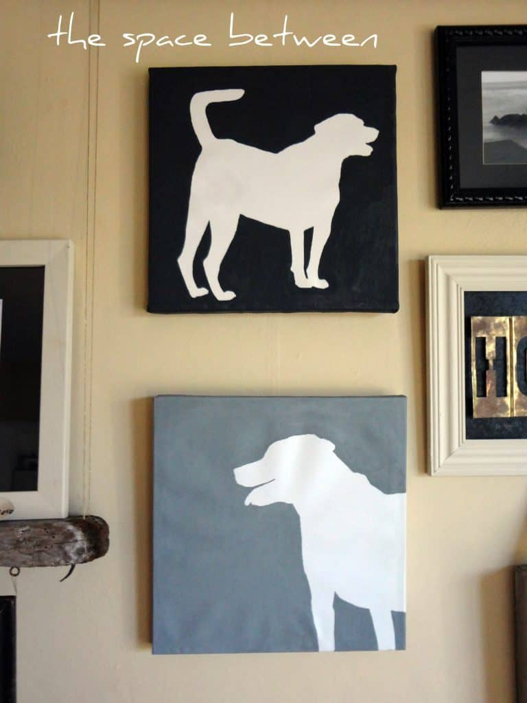 Dog Silhouette Art Canvas