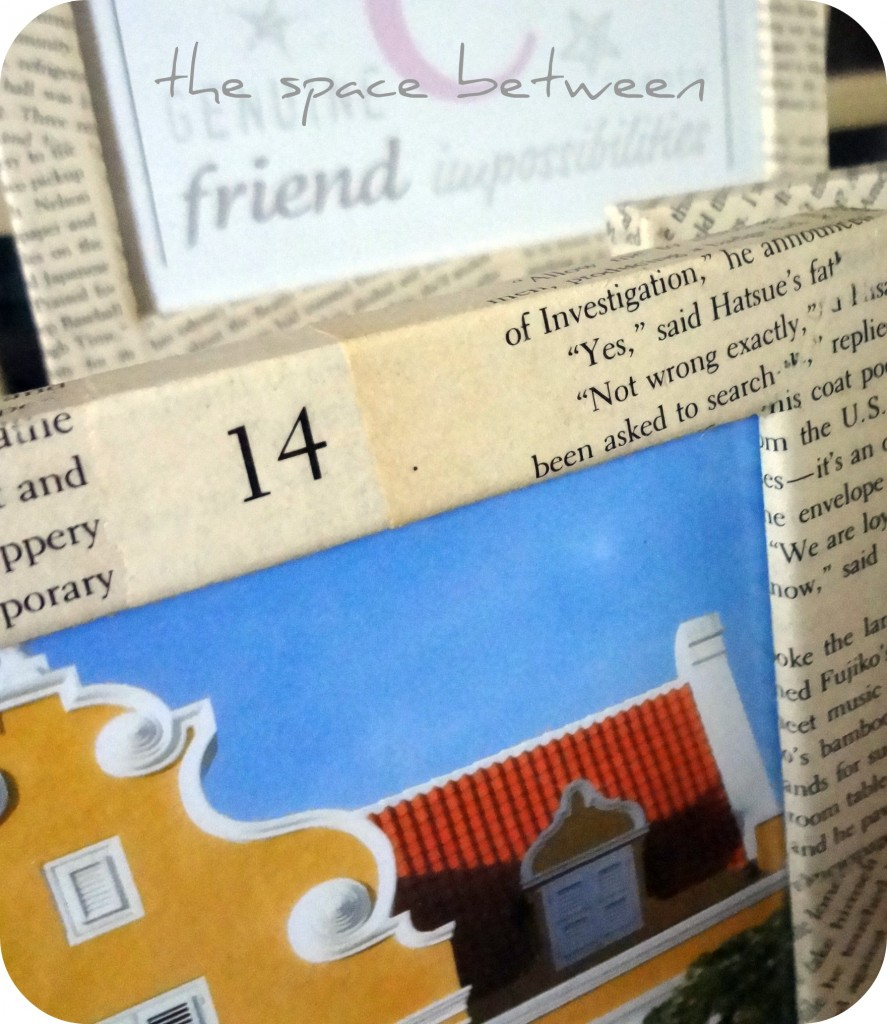 book page covered picture frames