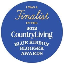 Finalist in Country Living 2012 Blogger Awards