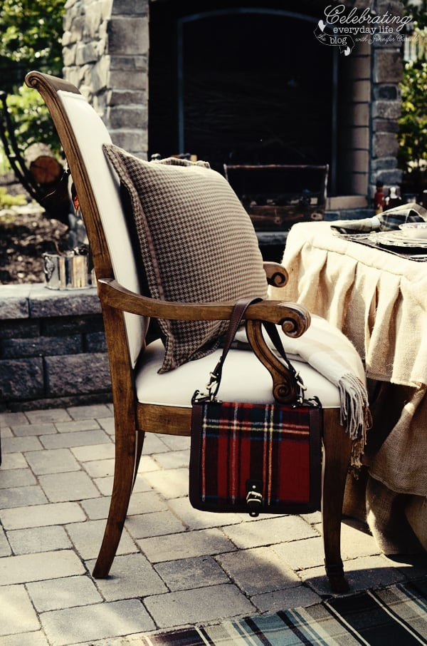 Plaid Purse, Ralph Lauren inspired dinner for two, tally-ho tete-a-tete, equestrian dinner