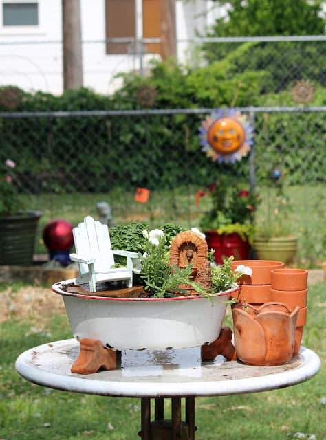 Fairy Garden from Cozy Little House blog