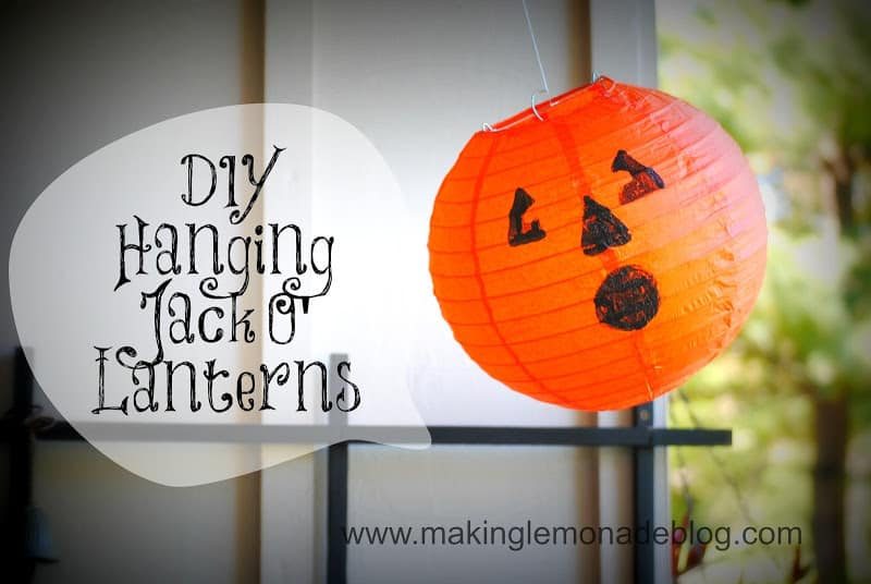 Halloween decor pumpkin, Hanging jack-o-lantern, Pottery Barn knock-off from Making Lemonade Blog