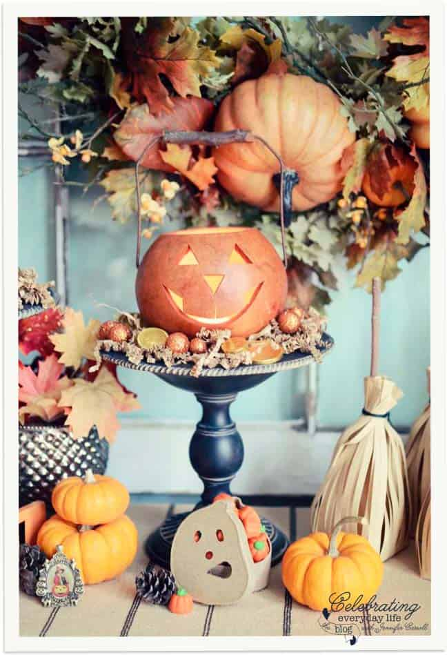 Pumpkin Lantern, Trick or Treat Display, Decorating for Halloween