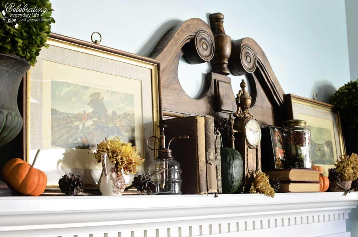 Fall Mantel, Autumn decor ideas, fall decor ideas