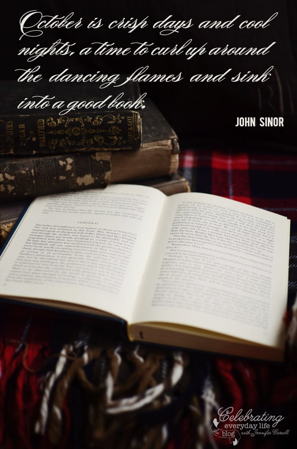 "{be inspired} ""October is…"" quote by John Sinor"