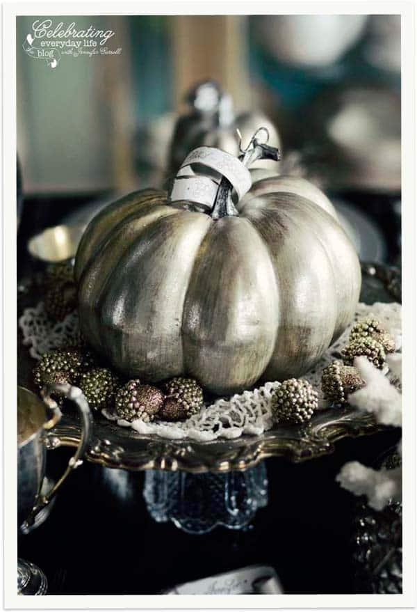 pumpkin centerpiece elegant halloween decor pumpkin decoration - Elegant Halloween Decor