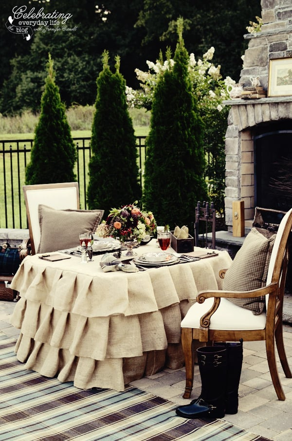 Table for Tally-ho tete-a-tete, Romantic outdoor dinner for two, Ralph Lauren inspired dinner