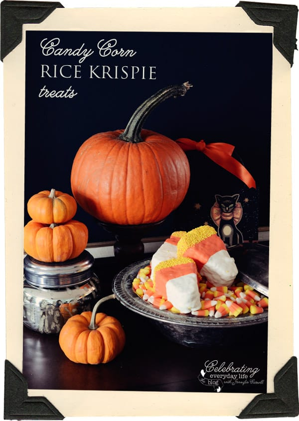 Candy Corn Rice Krispie Treat Recipe {Sweet Halloween Treat Recipe}